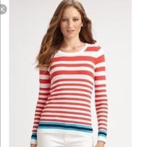 Lilly Pulitzer Jessie Coral Striped Sweater